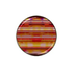 Abstract Stripes Color Game Hat Clip Ball Marker