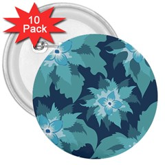 Graphic Design Wallpaper Abstract 3  Buttons (10 Pack)