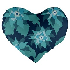 Graphic Design Wallpaper Abstract Large 19  Premium Flano Heart Shape Cushions