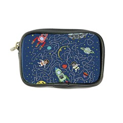 Cat Cosmos Cosmonaut Rocket Coin Purse by Sapixe