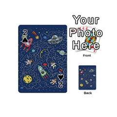 Cat Cosmos Cosmonaut Rocket Playing Cards 54 (mini)