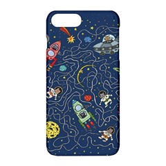 Cat Cosmos Cosmonaut Rocket Apple Iphone 8 Plus Hardshell Case by Sapixe