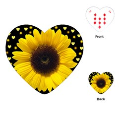 Flowers Hearts Heart Playing Cards (heart) by Sapixe