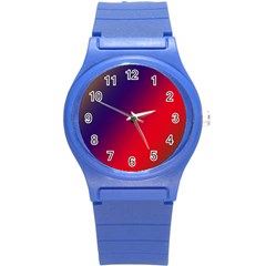 Rainbow Two Background Round Plastic Sport Watch (s)