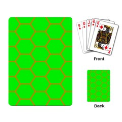 Bee Hive Texture Playing Cards Single Design by Jojostore