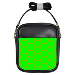 Bee Hive Texture Girls Sling Bag