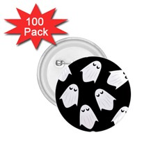 Ghost Halloween Pattern 1 75  Buttons (100 Pack)