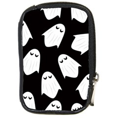 Ghost Halloween Pattern Compact Camera Leather Case