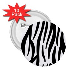 Seamless Zebra A Completely Zebra Skin Background Pattern 2 25  Buttons (10 Pack)