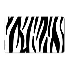 Seamless Zebra A Completely Zebra Skin Background Pattern Magnet (rectangular) by Jojostore