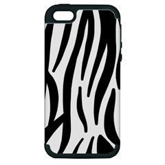 Seamless Zebra A Completely Zebra Skin Background Pattern Apple Iphone 5 Hardshell Case (pc+silicone) by Jojostore