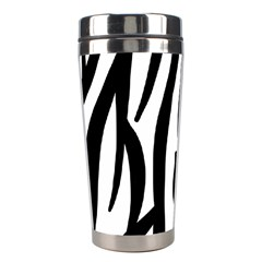 Seamless Zebra A Completely Zebra Skin Background Pattern Stainless Steel Travel Tumblers