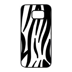 Seamless Zebra A Completely Zebra Skin Background Pattern Samsung Galaxy S7 Edge Black Seamless Case by Jojostore