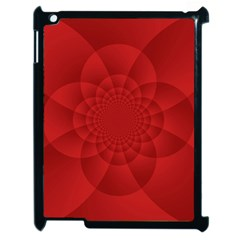Psychedelic Art Red  Hi Tech Apple Ipad 2 Case (black) by Jojostore