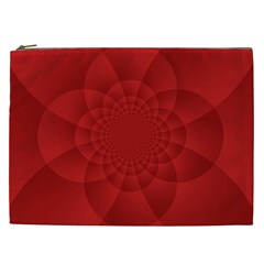 Psychedelic Art Red  Hi Tech Cosmetic Bag (xxl)