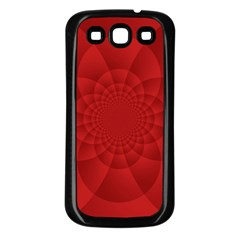 Psychedelic Art Red  Hi Tech Samsung Galaxy S3 Back Case (black)