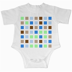 Colorful Green Background Tile Pattern Infant Creepers