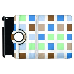 Colorful Green Background Tile Pattern Apple Ipad 3/4 Flip 360 Case
