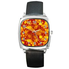 Christmas Star Advent Background Square Metal Watch by Sapixe