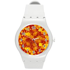 Christmas Star Advent Background Round Plastic Sport Watch (m)