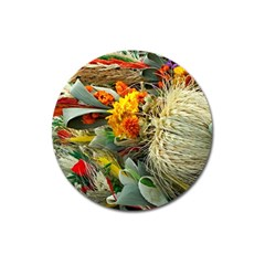 Flower Color Nature Plant Crafts Magnet 3  (round)