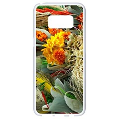 Flower Color Nature Plant Crafts Samsung Galaxy S8 White Seamless Case