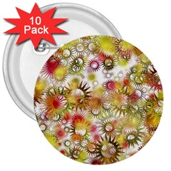 Background Christmas Star Advent 3  Buttons (10 Pack)