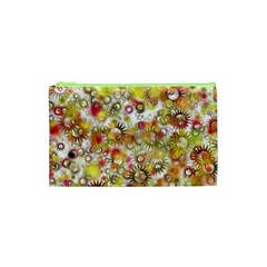 Background Christmas Star Advent Cosmetic Bag (xs)