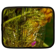 Dragonfly Dragonfly Wing Close Up Netbook Case (large) by Sapixe