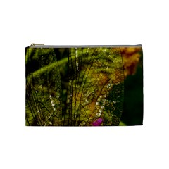 Dragonfly Dragonfly Wing Close Up Cosmetic Bag (medium) by Sapixe