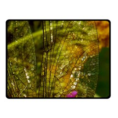 Dragonfly Dragonfly Wing Close Up Fleece Blanket (small)