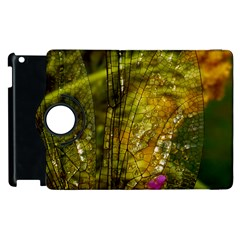 Dragonfly Dragonfly Wing Close Up Apple Ipad 3/4 Flip 360 Case
