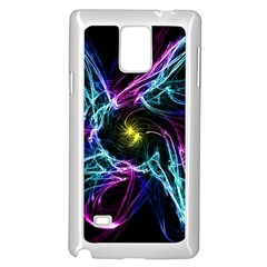 Abstract Art Color Design Lines Samsung Galaxy Note 4 Case (white)