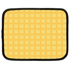 Pattern Background Texture Yellow Netbook Case (large)