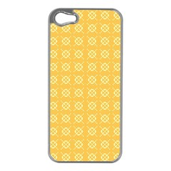 Pattern Background Texture Yellow Apple Iphone 5 Case (silver)