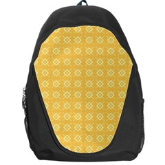 Pattern Background Texture Yellow Backpack Bag by Sapixe