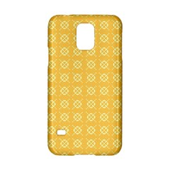 Pattern Background Texture Yellow Samsung Galaxy S5 Hardshell Case