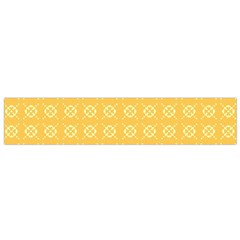 Pattern Background Texture Yellow Small Flano Scarf by Sapixe