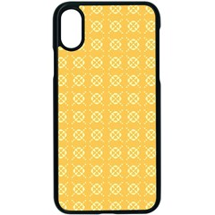 Pattern Background Texture Yellow Apple Iphone X Seamless Case (black) by Sapixe
