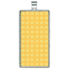 Pattern Background Texture Yellow Rectangle Necklace by Sapixe