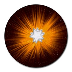 Star Universe Space Galaxy Cosmos Round Mousepads by Sapixe