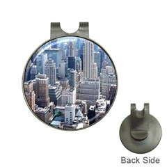 Manhattan New York City Hat Clips With Golf Markers