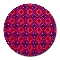 Retro Abstract Boho Unique Round Mousepads