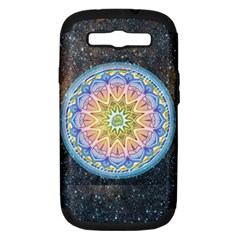 Mandala Cosmos Spirit Samsung Galaxy S Iii Hardshell Case (pc+silicone) by Sapixe