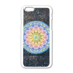 Mandala Cosmos Spirit Apple Iphone 6/6s White Enamel Case by Sapixe