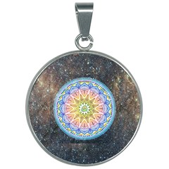 Mandala Cosmos Spirit 30mm Round Necklace by Sapixe
