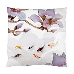 Fishes And Flowers Standard Cushion Case (one Side)