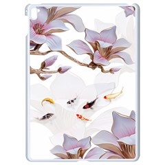 Fishes And Flowers Apple Ipad Pro 9 7   White Seamless Case by burpdesignsA
