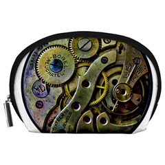 Clock Steampunk Gear  Accessory Pouch (large)