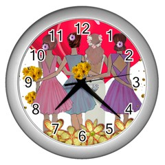 Girl Power Wall Clock (silver) by burpdesignsA